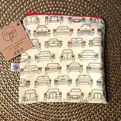 Marie Fil - Sac à sandwich lavable - motifs voitures