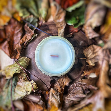 Chandelle crépitante feuille d'automne