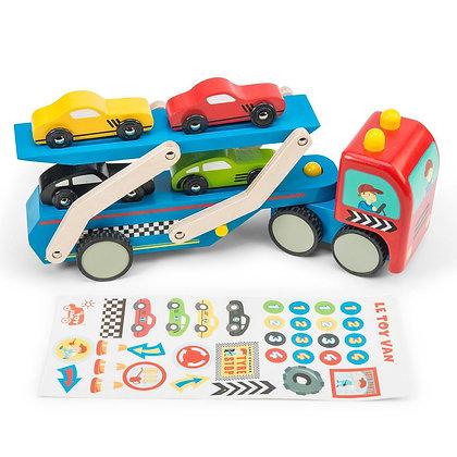 Le Toy Van - Camion de transport de voiture de course