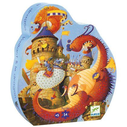 Djeco - Casse-tête - Vaillant & Les Dragons
