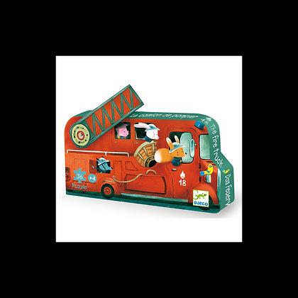 Djeco - Casse-tête - Le Camion de Pompier