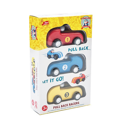 Le Toy Van - 3 voitures à propulsion arrière