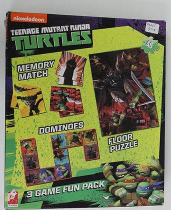 Teenage Mutant Ninja Turtles Boîte de jeu 3 en 1