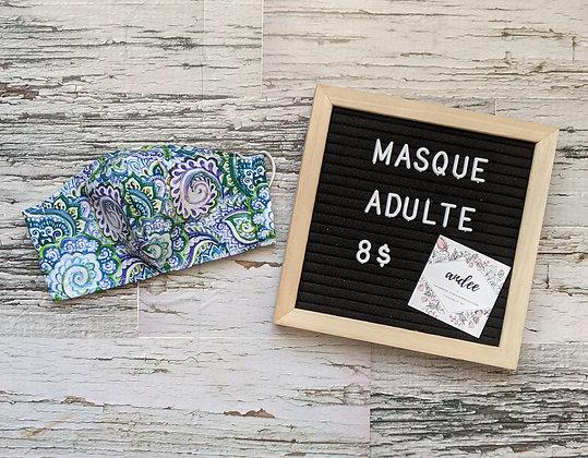 Masque adulte - Floral