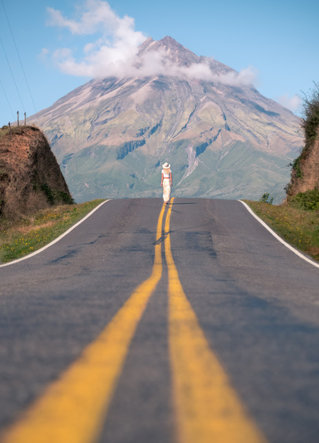Mt Taranaki Road Shot with Char