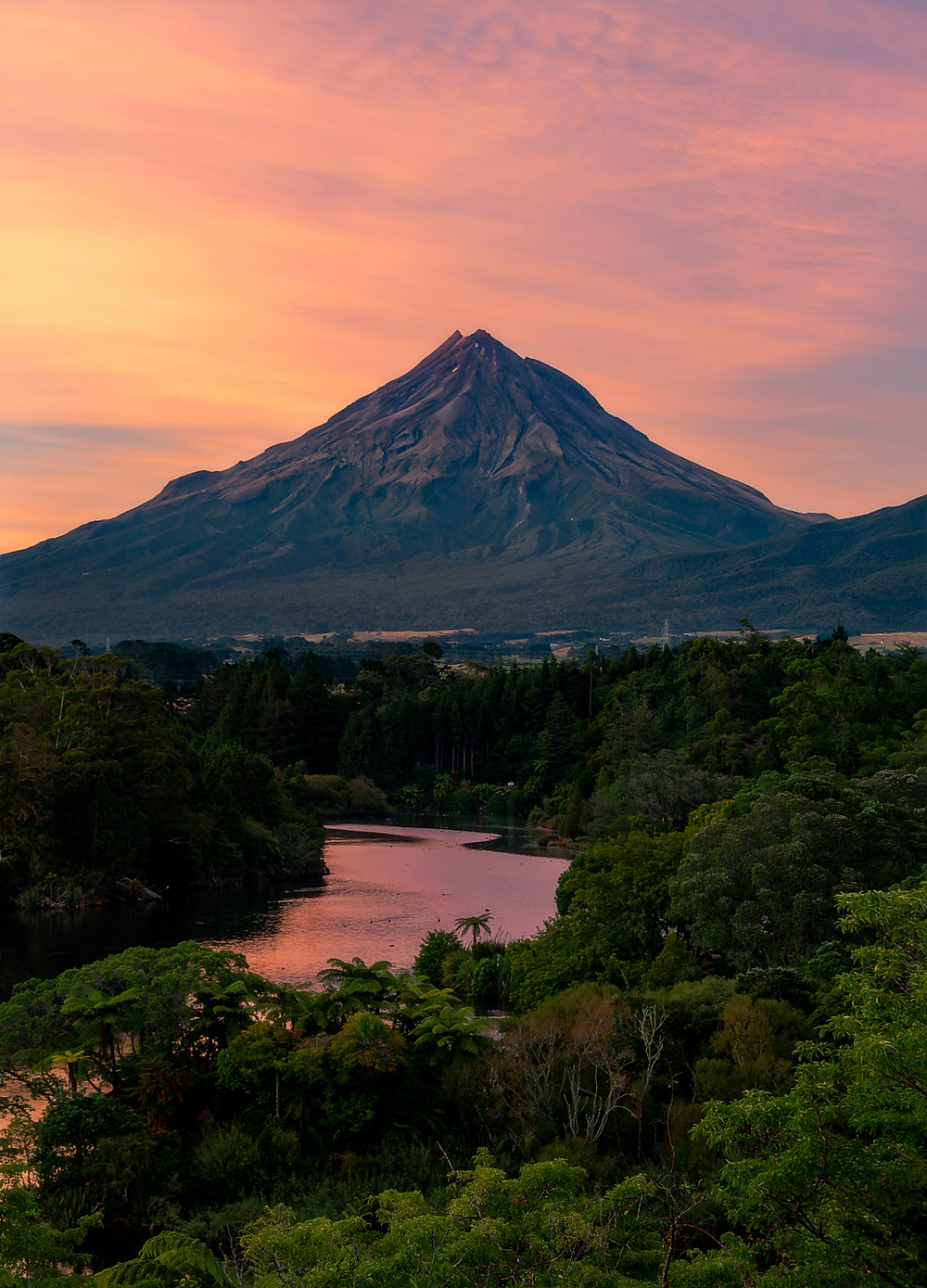 Lake Mangamahoe Taranaki sunrise photography