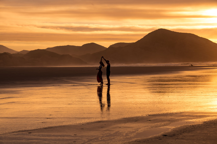 Sunset Wharariki Beach