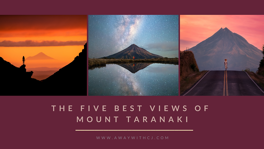Five best view points for mount Taranaki New Zealand