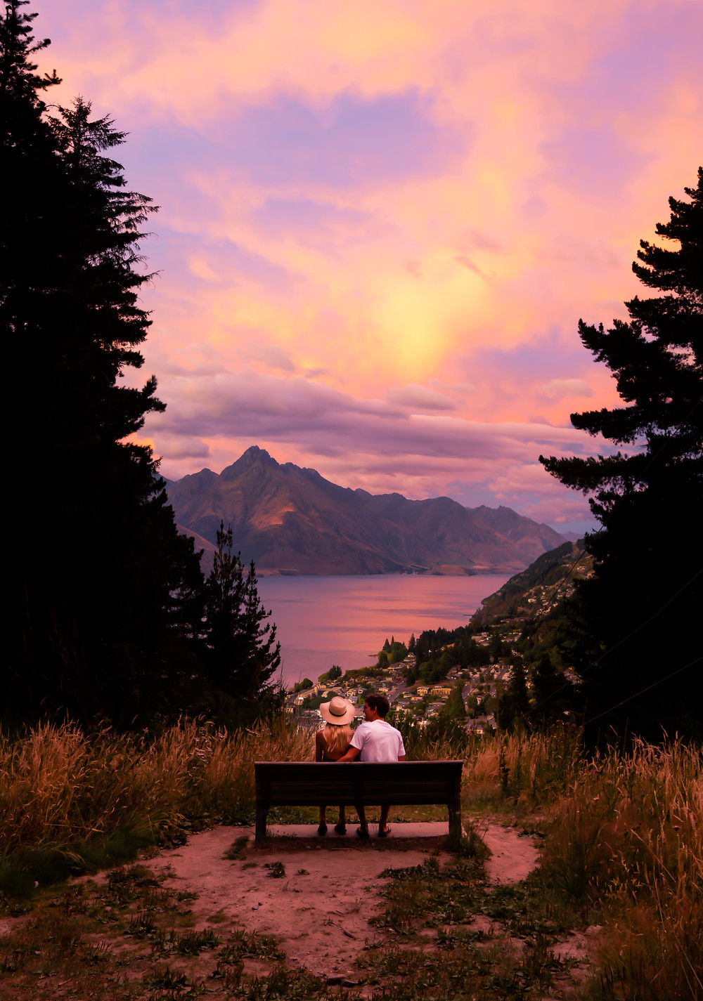 Queenstown Hill Sunrise Bench