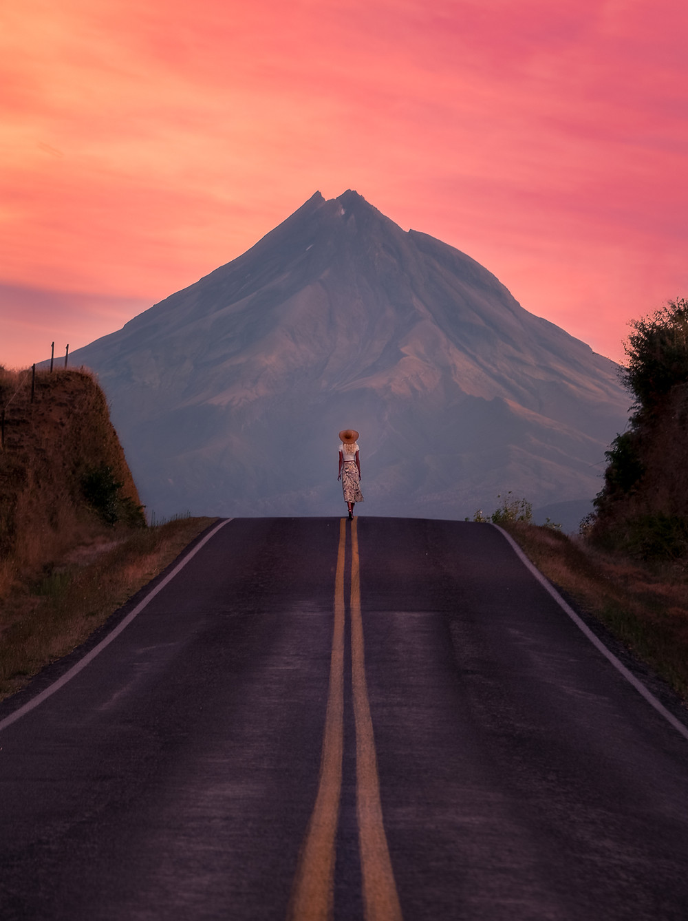 Kent Road sunrise view Mount Taranaki