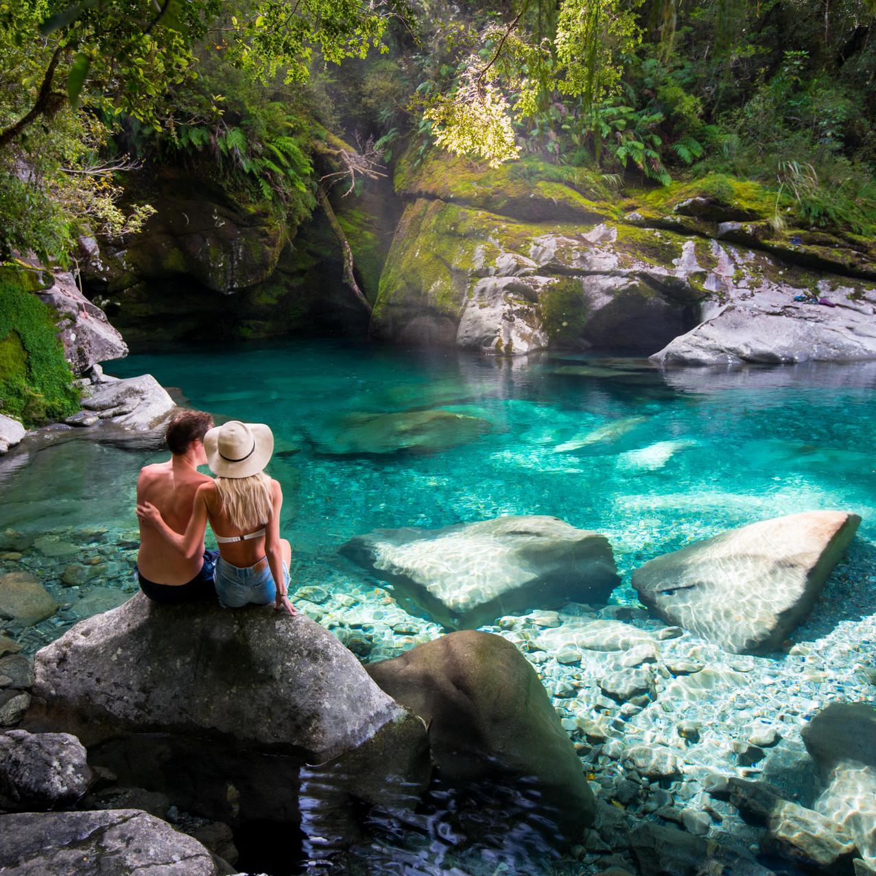 Blue Pool Secret Hidden Chasm Milford Sound