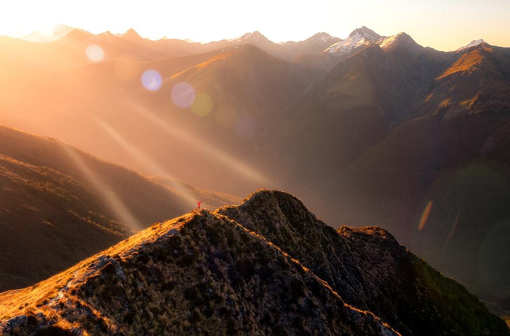 Brewster Hut West Coast New Zealand Sunset Photography NZ