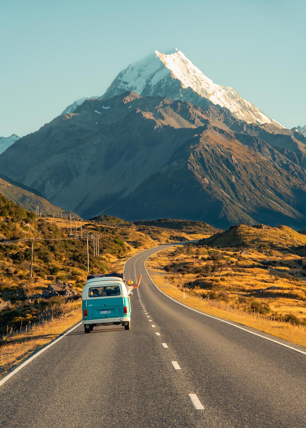 Mount Cook Aoraki Roadtrip view New Zealand