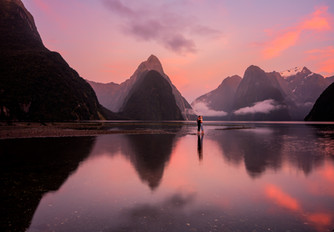 Milford Sound Foreshore sunrise