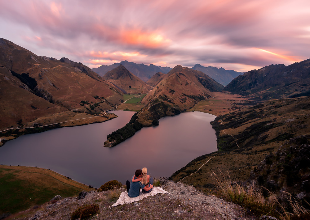 Sunset Moke Lake Secret Viewpoint Couple