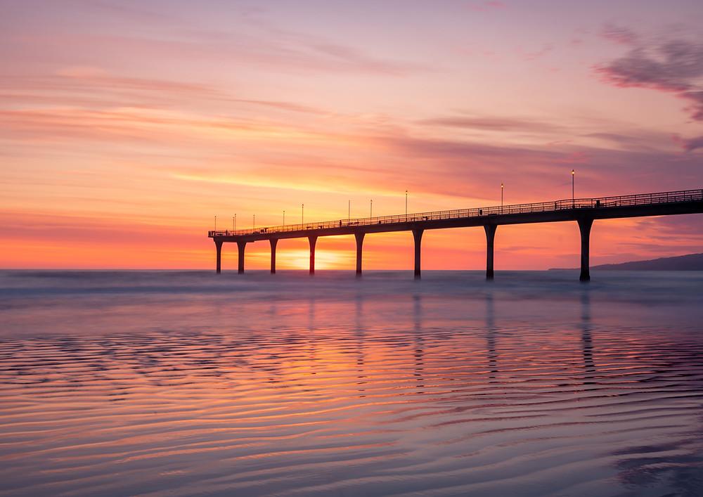 New Brighton Pier Sunrise Christchurch
