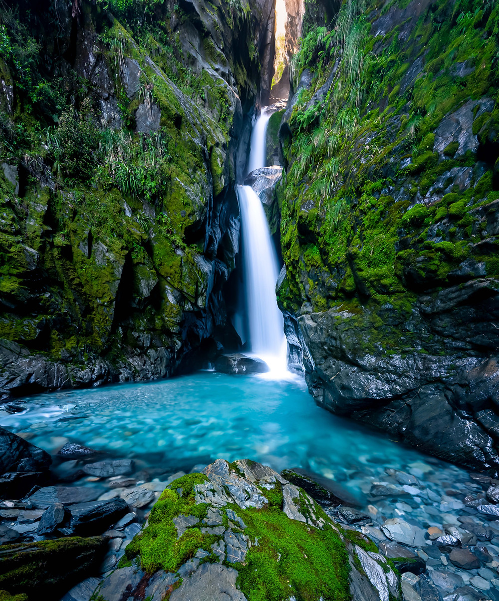 Secret Waterfall Fantail Falls West Coast New Zealand Hidden Gem Off the Beaten Path Photography Long Exposure