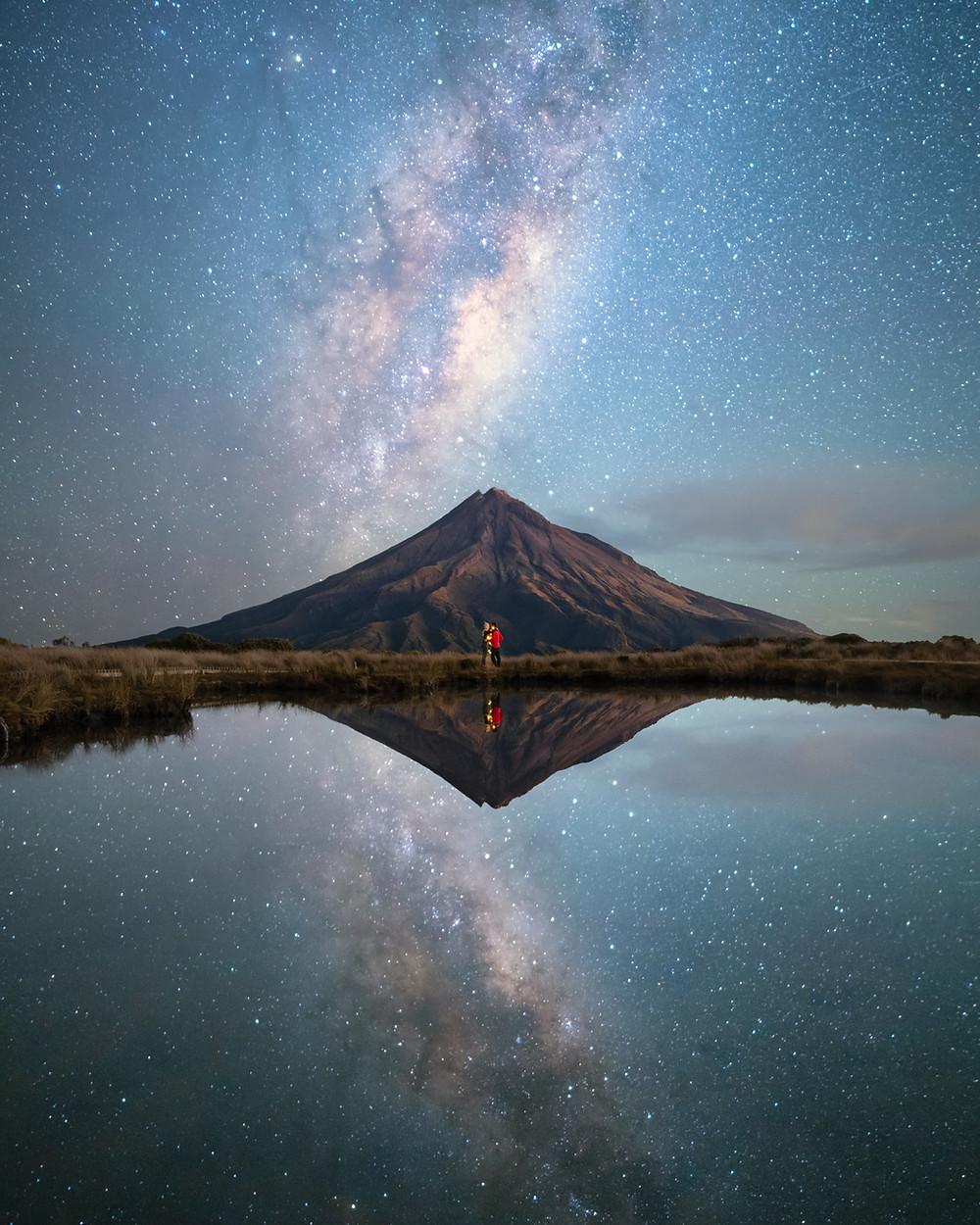 Pouakai Tarn Milkyway Photography Mount Taranaki