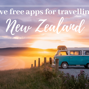 The five best (and free!) apps for travelling New Zealand 2020! Tips for saving money on the road!