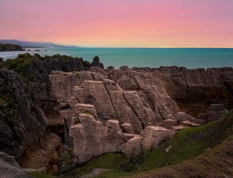 Pancake Rocks Sunset