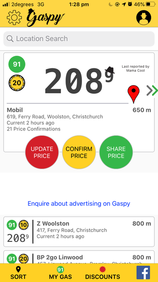 Gaspy App best 5 apps for travelling New Zealand