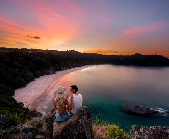 New Chums Beach Sunset