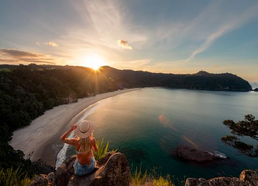 New Chums Beach Secret Viewpoint Sunset