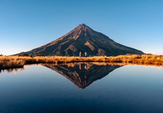 Mount Taranaki after sunrise