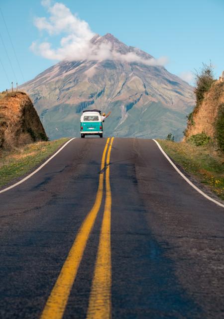 Mt Taranaki Road Shot with Vinnie