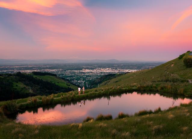 Port Hills Tarn Sunset