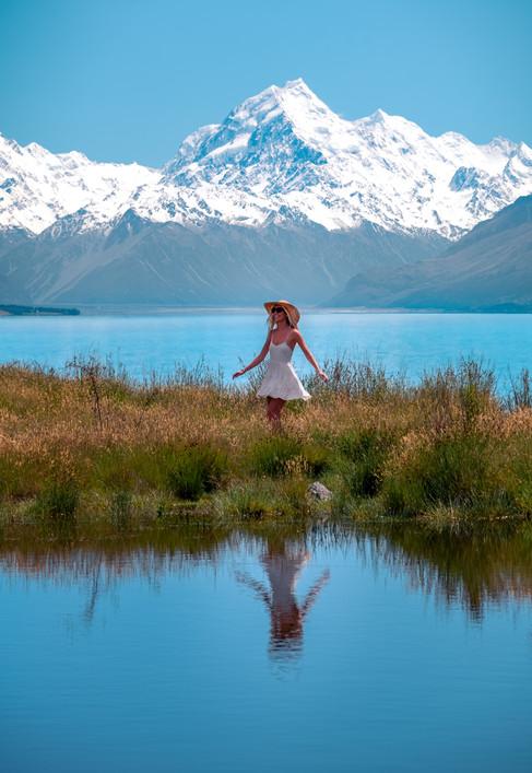 Mt Cook Reflective Tarn