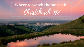 Three beautiful spots to watch the sunset in Christchurch New Zealand. Our top picks for 2020!