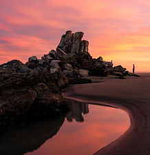 Shag Rock Christchurch New Zealand Photography Travel Guide Sunrise