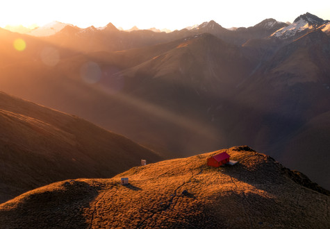 Brewster Hut Sunset