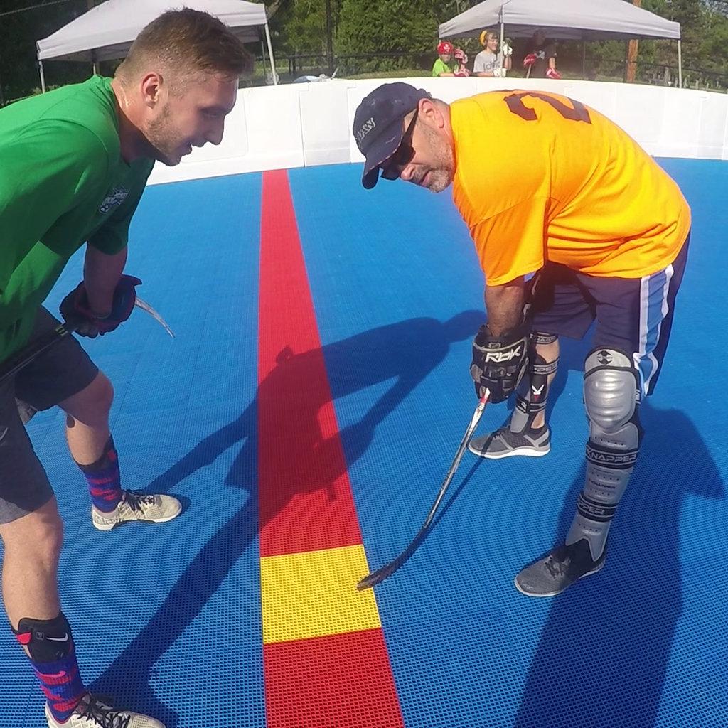 Play youth, mens and womens dek hockey