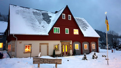 Umgebindehaus im Winter