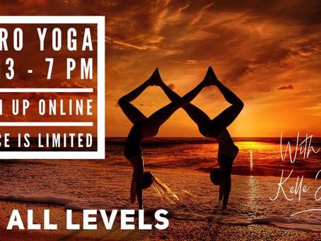 Acro Yoga Friday 3/13   7 pm -