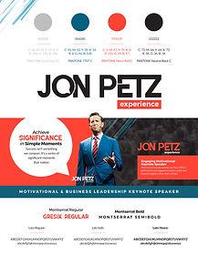 Jon Petz Logo Design 2019 - Brand Guide.