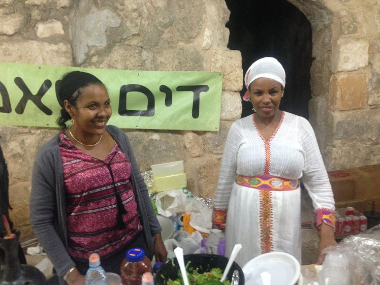 Amsal (pictured on the right) is a Lod resident of 25 years. She is one representative of the local Ethiopian community, sharing aspects of her culture at the event.