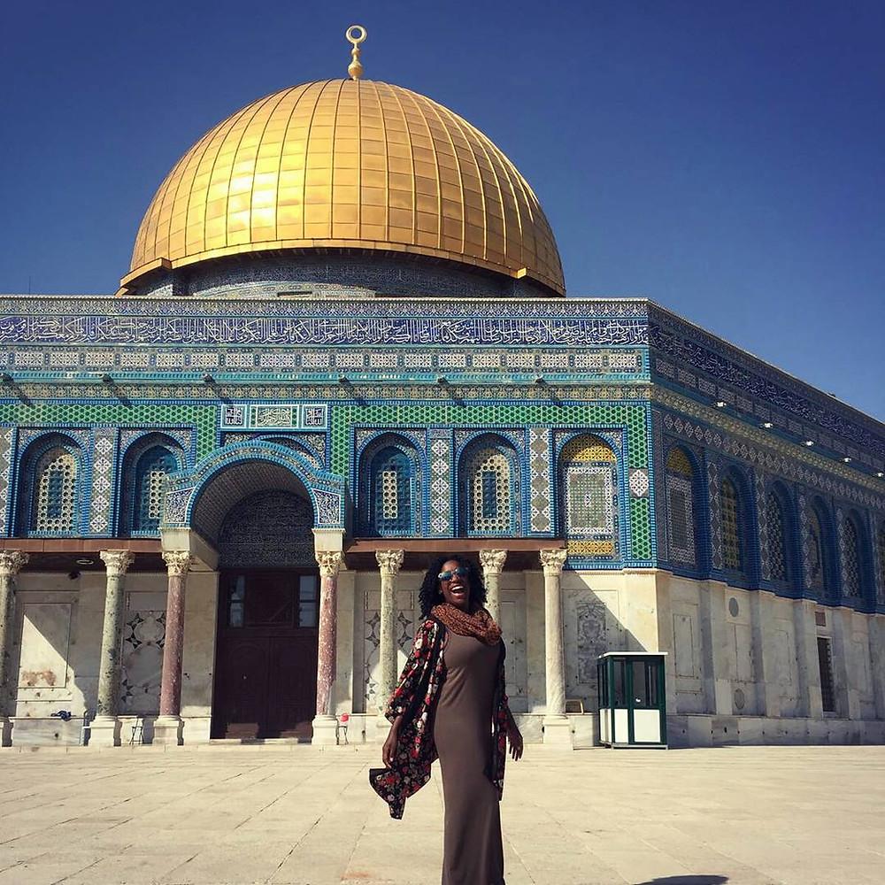 Felecia on a trip to Jerusalem with Yahel