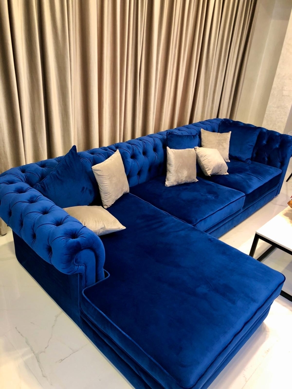 Coltar Chesterfield Electric Blue