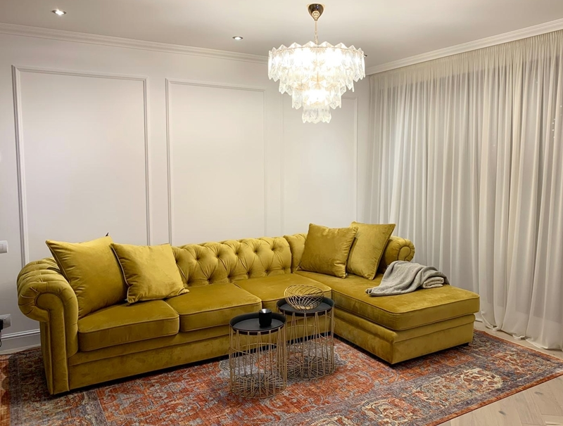 Coltar Chesterfield Gold