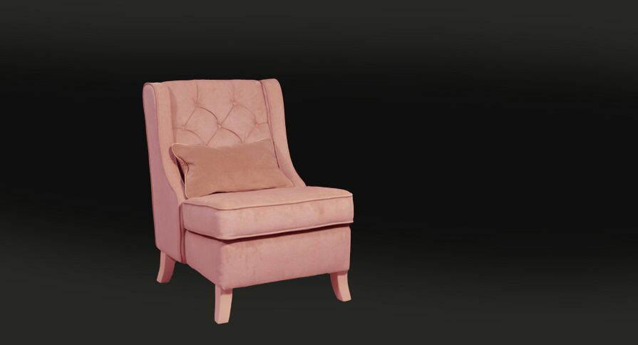 Fotoliu Davos light pink