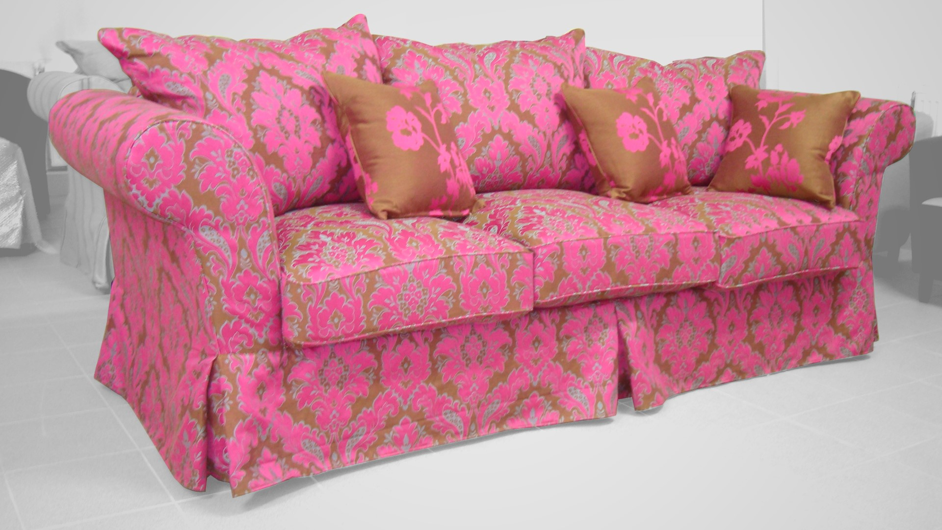 Canapea dehusabia Oscar roz