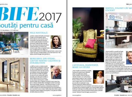"Aparitie in revista ""Casa si gradina"" - noiembrie 2017"