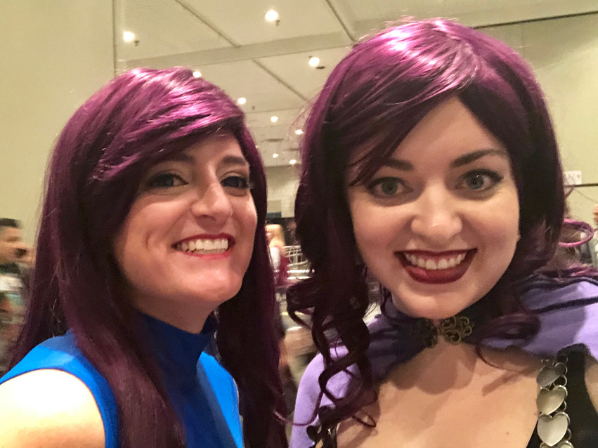 @windresscosplay as Psylocke. Line buddies and hair twins!
