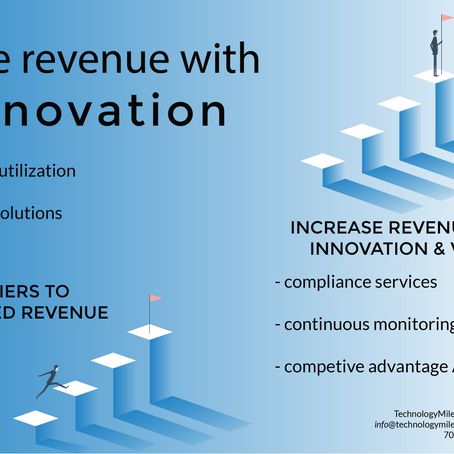 Innovation driving revenue; in a Market ...