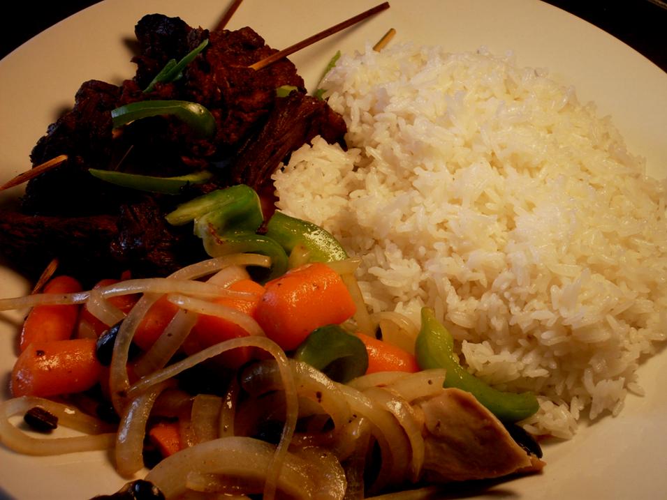 Beef & white Rice