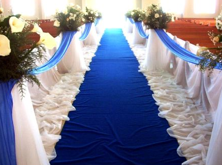 church aisle decor