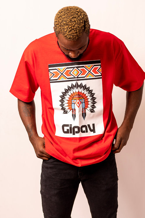 Mens T Shirt Crew Neck | Red